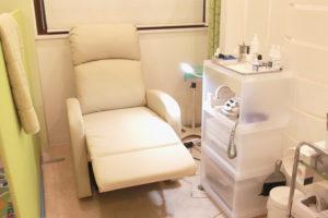巻き爪の施術スペース