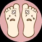 鳴いている足のイラスト